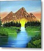 Summer Lake Sunrise Metal Print