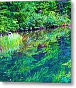Summer Monet Reflections Metal Print