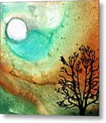 Summer Moon - Landscape Art By Sharon Cummings Metal Print by Sharon Cummings