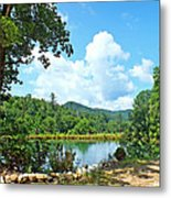 Summer Mountain Pond 2 Metal Print