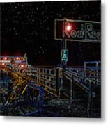 Summer Night At The Pier Metal Print