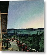 Summer Night Metal Print by Harald Oscar Sohlberg