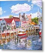 Summer On Bowens, Newport, Rhode Island Metal Print