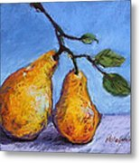 Summer Pears Metal Print by Kelley Smith