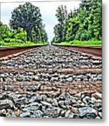 Summer Railroad Tracks Metal Print