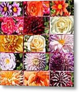 Summer Roses And Dahlias 2013 Metal Print