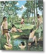 Summer Scene Metal Print by Frederic Bazille
