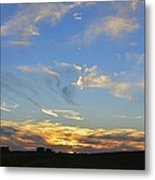 Summer Sets Panorama Metal Print