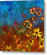 Summer Sizzle Abstract Flower Art Metal Print