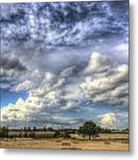 Summer Sky Farm Metal Print