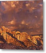 Summer Storm Clouds Over The Eastern Sierras California Metal Print