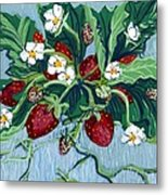 Summer Strawberries Metal Print