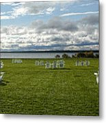 Summer Stretching On The Grass Metal Print