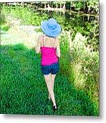 Summer Stroll In The Park - Art By Sharon Cummings Metal Print by Sharon Cummings