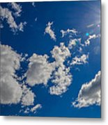 Summer Sun With Clouds Metal Print
