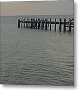 Summer Sunrise Oak Bluffs Metal Print