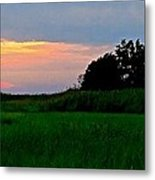 Summer Sunset At East Point Light Metal Print