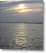 Summer Sunset Over Freeport Metal Print