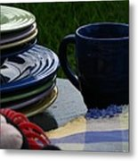 Summer Table Metal Print