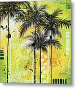 Summer Time In The Tropics By Madart Metal Print