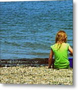 Summer Time On The Coast Of Maine Metal Print