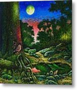 Summer Twilight In The Forest Metal Print