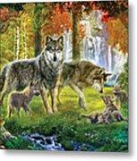 Summer Wolf Family Metal Print by Jan Patrik Krasny