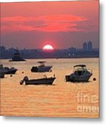 Late Summer Sunset Over The Bay Metal Print