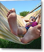 Summertime And The Livin' Is Easy Metal Print by Laura Fasulo