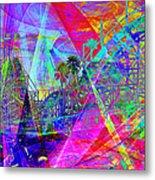 Summertime At Santa Cruz Beach Boardwalk 5d23930 Metal Print by Wingsdomain Art and Photography