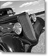 Summertime Blues In Black And White - Ford Coupe Hot Rod Metal Print
