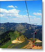 Summertime Chairlift Ride Metal Print