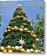 Summertime Christmas With Text Metal Print by Kaye Menner