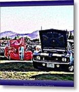 Summertime Class Car Show Metal Print