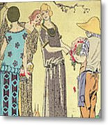 Summertime Dress Designs By Paul Poiret Metal Print by French School