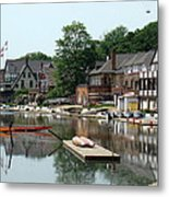 Summertime On Boathouse Row Metal Print