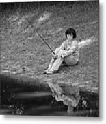 Summertime Reflection Metal Print
