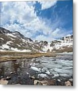 Summit Lake In The Spring Metal Print