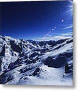 Summit Of The Italian Alps In Winter Metal Print