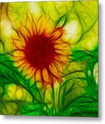 Sun And A Flower Metal Print
