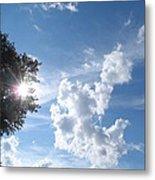 Sun And Cloudburst Metal Print