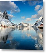 Sun And Ice Reinefjord Metal Print