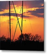Sun And Masts Metal Print