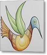 Sun Bird Metal Print