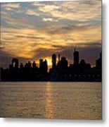 Sun Comes Up On New York City Metal Print
