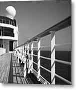 Sun Deck Shadows Metal Print