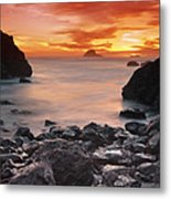 Sun Descends On Northcoast Metal Print