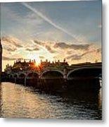 Sun Down London Metal Print