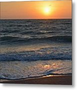 Sun Glistening On The Water Metal Print