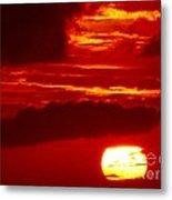 Sun In Descent Metal Print